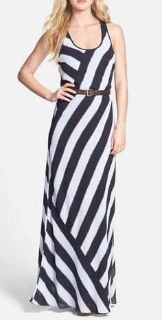 MICHAEL Michael Kors Belted Maxi Dress