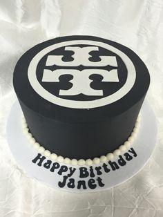 Tory Birch Birthday Cake by Delightful Treats Orlando Cakery #DelightfulTreats #ToryBirch #BirthdayCake #ToryBirchCake