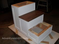 Making a Fancy Dog Step – Installing Trim and Finishing