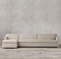 The Petite Belgian Classic Slope Arm Preconfigured Upholstered Left Arm Sofa  Chaise Sectional