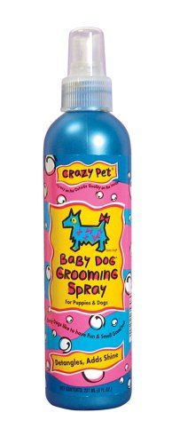 "$8.05-$9.99 Crazy Pet Baby Dog Grooming Spray - Professional grooming spray: cleans, conditions, detangles, takes out static, leaves a long-lasting scent. Use in-between baths for a ""dry"" bath. http://www.amazon.com/dp/B0002AQ8X6/?tag=pin2pet-20"