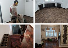 We don't just fit wood flooring we also renovate it. If your wood flooring is looking a bit worse for wear and needs refurbishing or a deep clean, we'd love to hear from you. Wood Flooring, Hardwood Floors, Wood Floor Restoration, Stairs Cladding, Deep Cleaning, Tile Floor, Fit, Home Decor, Wood Floor Tiles
