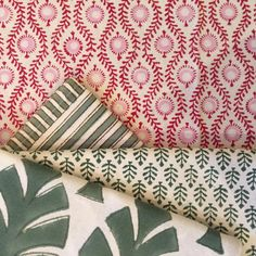 Vibrant colours and patterns on our beautiful hand block printed textiles in store now, come and have a look. #interiorinspiration #interiordesign #handblockprinted #textiles #patterns