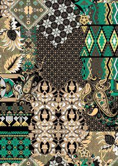 Sirjan - Lunelli Textil | www.lunelli.com.br Textile Pattern Design, Textile Patterns, Embroidery Patterns, Line Patterns, Cool Patterns, Arabic Pattern, Textiles, Curtain Patterns, Collage