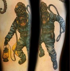 diver suit tattoo - Google Search