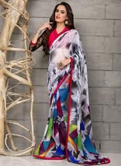 Multi Color Georgette Party Wear Sarees :  Anupama Collection  YF-42845