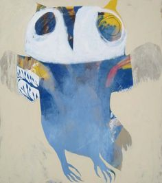 Wish I could have bought one of these OWLS !! A sold work by Karlee Rawkins - White Lady available at Anthea Polson Art on the Gold Coast Australia, specialising in contemporary Australian art and sculpture