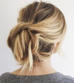 Consider these gorgeous hair styles for your next formal occasion | messy twisted updo by 'KRISTIN ESS HAIR'