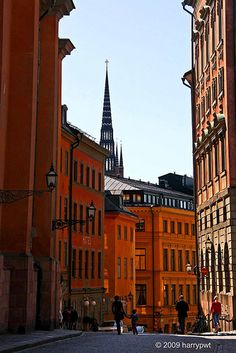 Stockholm Sweden Gamla Stan (Old Town) Stockholm Old Town, Stockholm Sweden, Places To Travel, Places To Go, Nordic Chic, Iceland Island, Scandinavian Architecture, Singapore City, Scandinavian Countries