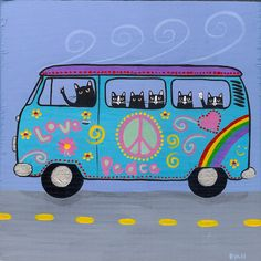 Ryan Conners Art VW Hippie Bus