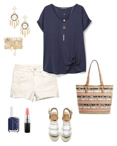 """Untitled #314"" by kmysoccer on Polyvore featuring Violeta by Mango, Bueno, Charlotte Russe, Stella & Dot, Essie and MAC Cosmetics"