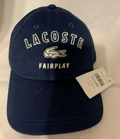 dc025615b6d2b Hats · New Lacoste Fairplay Men s Cotton Gabardine Sports Cap in Adjustable  Size  fashion  clothing
