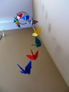 Standby on Tophatter: Origami crane mobile