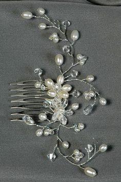 Freshwater-Pearl-Crystal-Bridal-Hair-Comb-Vine-Wedding-Hair-Accessory