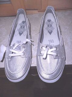 Women's Converse Silver Deck Shoes NWT | eBay
