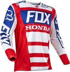 Fox Racing MX 180 Honda Mens Off Road Dirt Bike Racing Motocross Jerseys