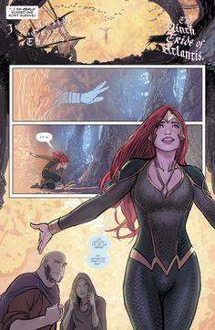 Mera in Aquaman Comic Book Characters, Comic Character, Comic Books Art, Mera Dc Comics, Dc Comics Art, Aquaman, Atlantis, Super Heroine, Hulk Art