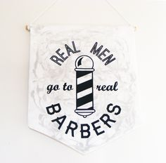 Barbershop wall banner. Fabric wall banner. Bearded wall banner. Lumbersexual wall banner. by OtloxotBarcelona on Etsy