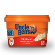 Uncle Ben's White & Brown Rice Cups. Perfect low FODMAP item to stash in your desk for a quick lunch or snack.