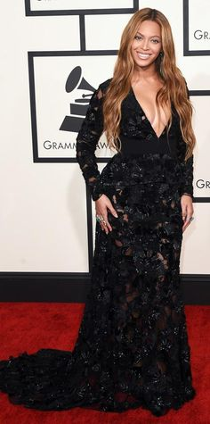 Grammys 2015 Red Carpet Arrivals - Beyonce from #InStyle