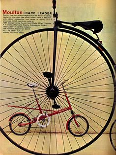 Moulton advert | Flickr - Photo Sharing! Bicycle Painting, Bicycle Art, Moulton Bicycle, Penny Farthing, Bike Poster, Rail Transport, Vintage Cycles, Cycling Art, Inventions