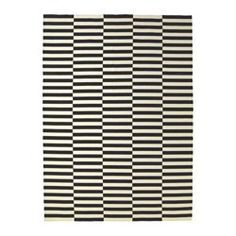 "STOCKHOLM Rug, flatwoven, black stripe handmade, off-white stripe black/off-white - handmade/stripe black/off-white - 8 ' 2 ""x11 ' 6 "" - IKEA"