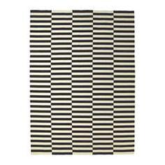 STOCKHOLM Tapete, tecelagem plana, feito à mão preto às riscas, branco-bege às riscas preto/branco-bege - feito à mão/às riscas preto/branco-bege - 250x350 cm - IKEA