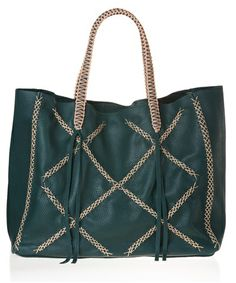 Green Squared Lattice Tote Bag by Callista Crafts available on aesthet.com #style #green