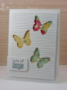 Negative space butterfly card