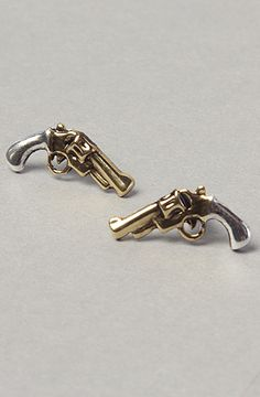 *Accessories Boutique The HoldEm Up Earring in Gold and Silver : Karmaloop.com - Global Concrete Culture