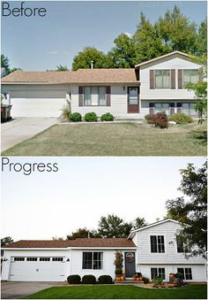 pleasing split entry house remodel before and after. Michigan House Makeover  New Siding Before After Garage doors