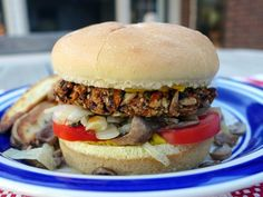 Hearty, savory, and super delicious, this vegan lamb burger will make your mouth water from just thinking about it. Meat-eater tested and approved. Lamb Burgers, Burger And Fries, Burger Food, Veggie Burgers, Burger Recipes, Vegetarian Recipes, Meat Substitutes, Lentils, Veggies