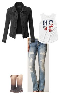 """Working cowgirl"" by lisawardrip on Polyvore featuring Rock Revival, LE3NO and Ariat"