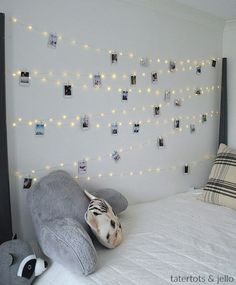 Hang extra long fairy lights and phot… Tween Teen Fairy Light Photo Display Wall. Hang extra long fairy lights and photos to create a beautiful bedroom display that everyone will love! Fairy Lights Photos, Tumblr Fairy Lights, Exposition Photo, Teenage Girl Bedrooms, Teen Rooms, Kid Bedrooms, Photo Displays, Beautiful Bedrooms, House Beautiful