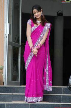 Ileana D'Cruz in Pink Saree
