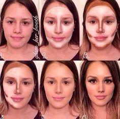 Beauty Trends: Face Contouring - Make up hacks Makeup Tips, Beauty Makeup, Eye Makeup, Hair Makeup, Hair Beauty, Makeup Tutorials, Big Nose Makeup, Makeup Spray, Makeup Videos