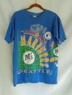 30% OFF - Vintage 1992 Seattle Marines MLB Salem Sportswear Ken Griffey Jr Made In USA Large sz T-Shirt