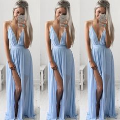 This Boho Maxi Dress in cool Blue brings some South American summer fashion style to your travel wardrobe. This is the cutest of cute dresses...