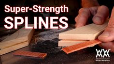 How to reinforce the corners of picture frames by making super strong splines for miter joints. All you need is a simple jig. Woodworking for Mere Mortals.