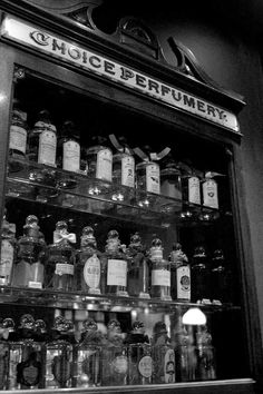 Penhaligon's Perfumery cabinet. A glimpse of the past and the origin or great perfumes