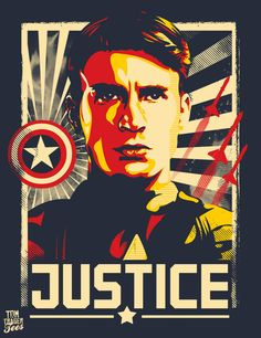 Captain America: Justice Poster by Tom Trager
