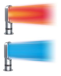 The Dyson Hot + Cool bladeless fan is both a heater and an air chiller.