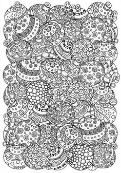 Bauble colouring page