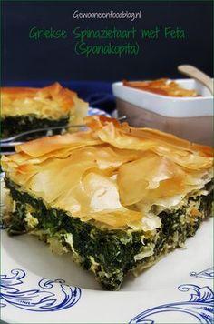 Griekse spinazietaart met feta (Spanakopita)   Gewooneenfoodblog.nl