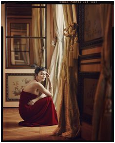 Audrey Tautou. Joe McGorty glass Winter 2011.