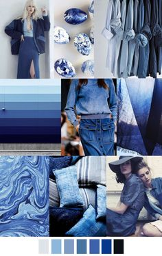 I ❤ COLOR AZUL INDIGO + COBALTO + AÑIL + NAVY ♡ 17 pattern & colors : TRUE BLUE