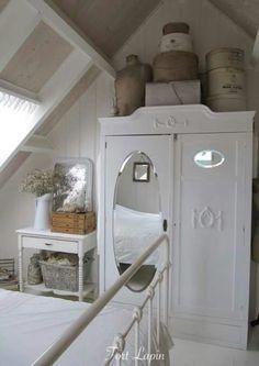 white wardrobe in garret bedroom