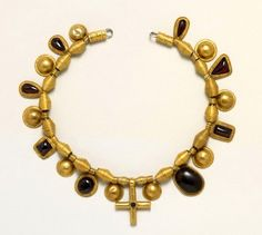 Anglo-Saxon Necklace, Late 7th Century AD From a... at Ancient & Medieval History