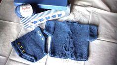 Conjunto de ropa para bebé a tricot, con jersey bebé y cubrepañal y jersey, dificultad avanzada, nosotros utilizamos 3 ovillos de Katia Missouri