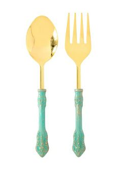Antico Salad Servers - Set of 2 by Shiraleah on @HauteLook